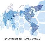 world map vector | Shutterstock .eps vector #696889519