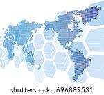 world map vector | Shutterstock .eps vector #696889531