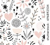 seamless vector pattern with...   Shutterstock .eps vector #696892534