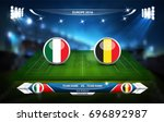football or soccer playing... | Shutterstock .eps vector #696892987