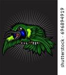 green leaf bird fight | Shutterstock .eps vector #696894919