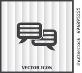 chat icon in trendy flat style... | Shutterstock .eps vector #696895225