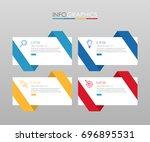modern info graphic template... | Shutterstock .eps vector #696895531
