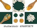 various medicine pills and...   Shutterstock . vector #696895879