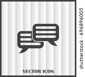 chat icon in trendy flat style... | Shutterstock .eps vector #696896005