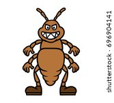 cartoon lice or insect character | Shutterstock .eps vector #696904141