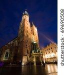 Mariacki Church In Krakow ...