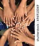 hand cooporation | Shutterstock . vector #696910069
