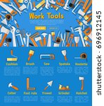 work tools company landing page.... | Shutterstock .eps vector #696912145