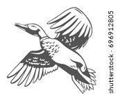 duck. vector illustration. | Shutterstock .eps vector #696912805
