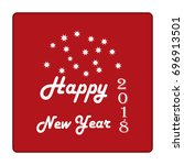 happy new year hand lettering... | Shutterstock .eps vector #696913501