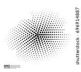 monochrome halftone pattern dot ... | Shutterstock .eps vector #696914887
