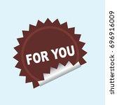 label | Shutterstock .eps vector #696916009
