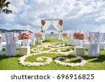 wedding setup   Shutterstock . vector #696916825