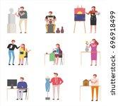 artists in the field of art... | Shutterstock .eps vector #696918499