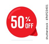 50  off discount sign label... | Shutterstock .eps vector #696923401