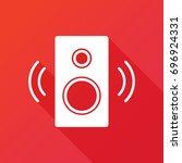 audio speakers vector icon....