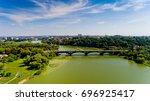 reconstruction of the bridge... | Shutterstock . vector #696925417