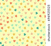 seamless pattern with colorful... | Shutterstock .eps vector #696925525