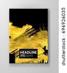 vector black and gold design... | Shutterstock .eps vector #696926035