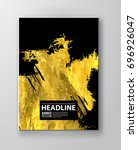 vector black and gold design...   Shutterstock .eps vector #696926047