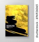 vector black and gold design... | Shutterstock .eps vector #696926065