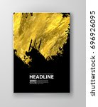 vector black and gold design... | Shutterstock .eps vector #696926095