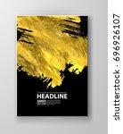 vector black and gold design...   Shutterstock .eps vector #696926107