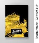 vector black and gold design... | Shutterstock .eps vector #696926119