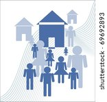 real estate and people icons | Shutterstock . vector #69692893