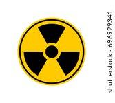 radiation danger sign. caution... | Shutterstock . vector #696929341