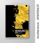vector black and gold design... | Shutterstock .eps vector #696930619