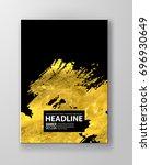 vector black and gold design... | Shutterstock .eps vector #696930649