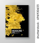vector black and gold design... | Shutterstock .eps vector #696930655