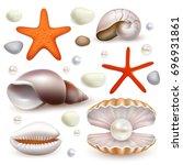 vector set of realistic...   Shutterstock .eps vector #696931861