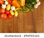 vegetables on the table | Shutterstock . vector #696932161