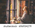 Happy Woman Enjoying The Autum...