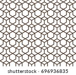 abstract geometric pattern with ... | Shutterstock .eps vector #696936835