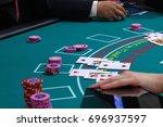 casino                         ... | Shutterstock . vector #696937597