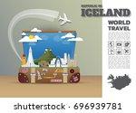 iceland landmark global travel... | Shutterstock .eps vector #696939781