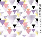 seamless pattern geometric... | Shutterstock .eps vector #696943549