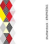 card banner template geometric... | Shutterstock .eps vector #696943561
