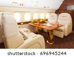 luxury interior in warm colors... | Shutterstock . vector #696945244