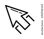 thin line arrow icon