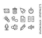 button icon set | Shutterstock .eps vector #696946171