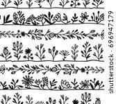 herbs  seamless pattern for... | Shutterstock .eps vector #696947179