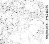 cyber technology 3d abstract... | Shutterstock .eps vector #696948985