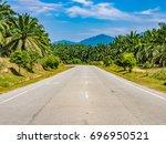 road in lenggong valley ... | Shutterstock . vector #696950521