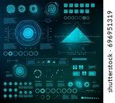 futuristic virtual graphic... | Shutterstock .eps vector #696951319