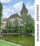 vajdahunyad castle in budapest  ... | Shutterstock . vector #696954601